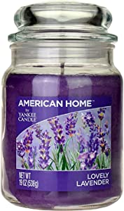 Yankee Candle Scented Fragrance Candles American Home Collection Luxury Classic Large 19oz Glass Jar 538g[Lovely Lavender], Purple