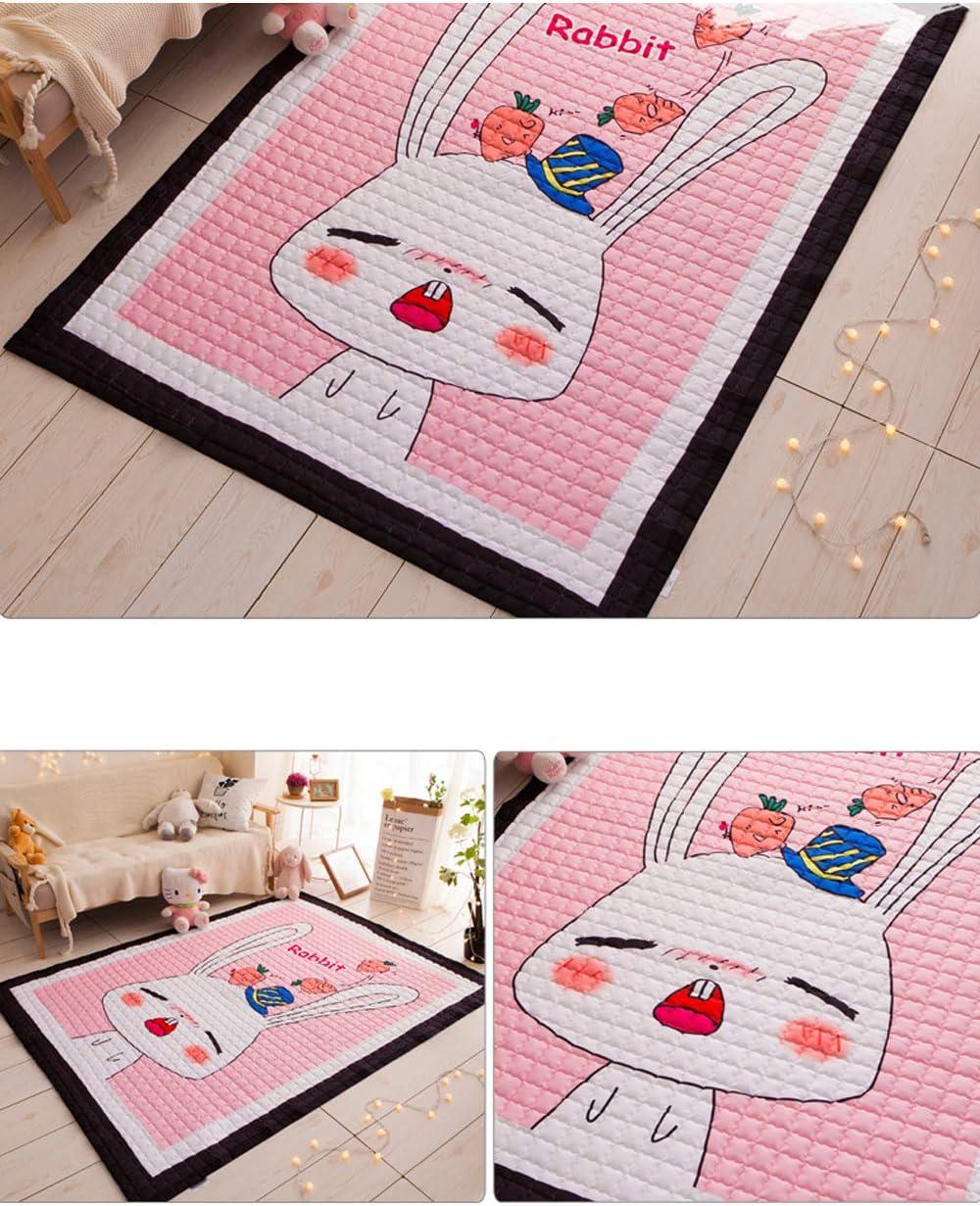1.45 Meter Super Large Baby Kids Cotton Rugs Nursery Room Animal Pattern Carpets Play Mats 1.95 Elephant-B