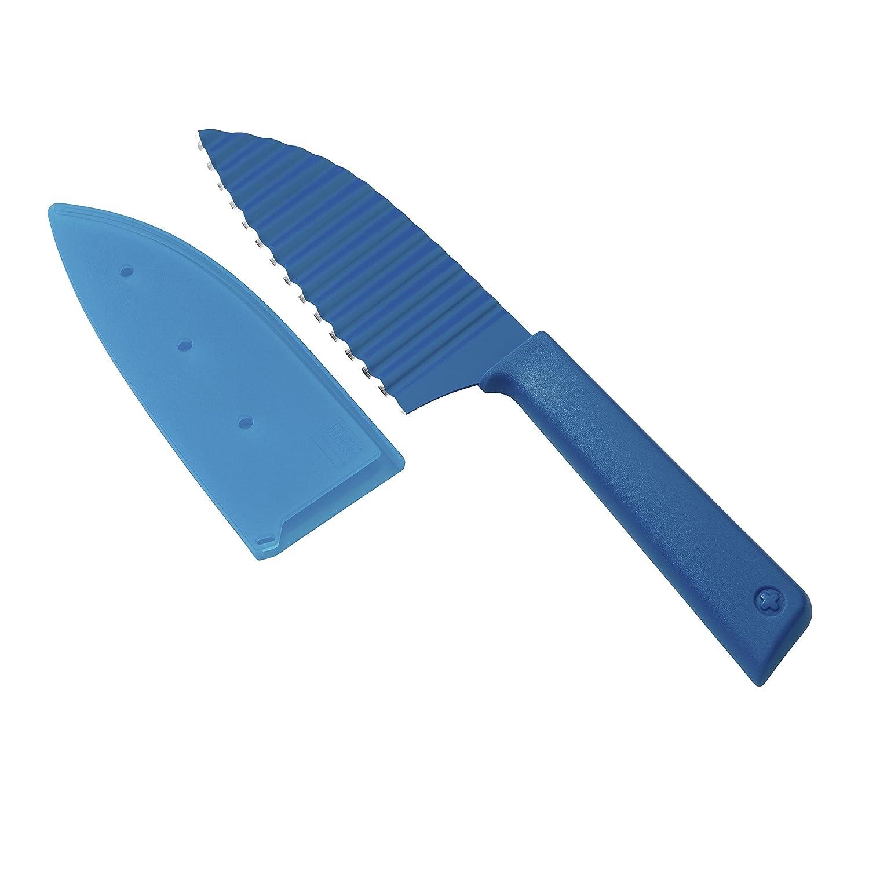 Kuhn Rikon Colori+ Krinkle Cut Garnish Knife, Blue