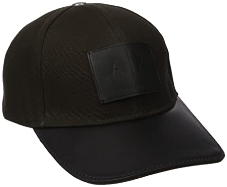 a0eca264 Armani Exchange Men's Logo Patch Trucker Hat with Full Back, Cypress One  Size