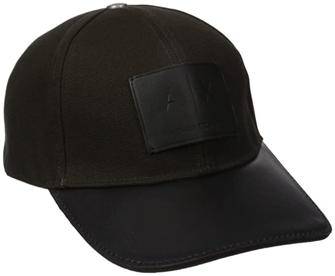 31e6cfb23a7 Amazon.com  Armani Exchange Men s Logo Patch Trucker Hat with Full ...