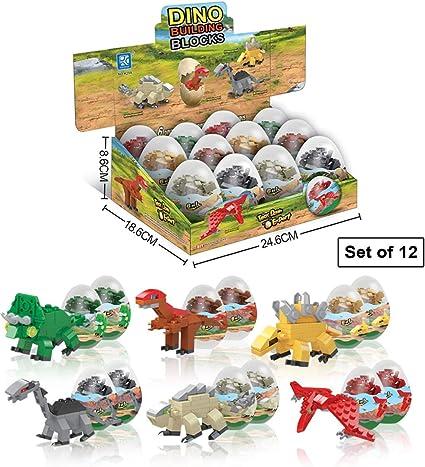 Amazon.com: Juguetes de dinosaurio – 12 huevos sorpresa de ...