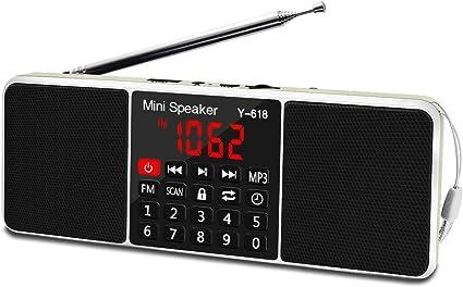 Rolton W405 FM Stereo Radio Digital Receiver AUX//USB//TF MP3 Music Speaker Mini