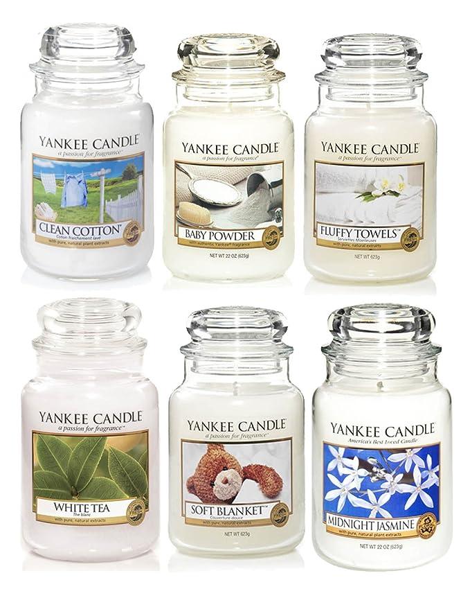 Coffret cadeau de 6 bougies Yankee Candle Blanc