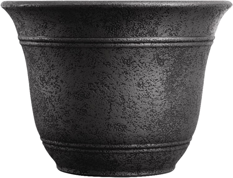 Listo 10-Inch Sierra Planter, Black Onyx