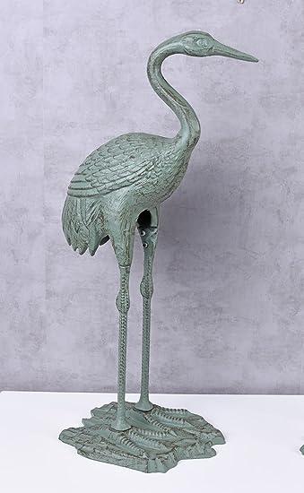 Reiher Figur Gusseisen Fischreiher Teichreiher Teichfigur 73cm Vogelfigur 10kg