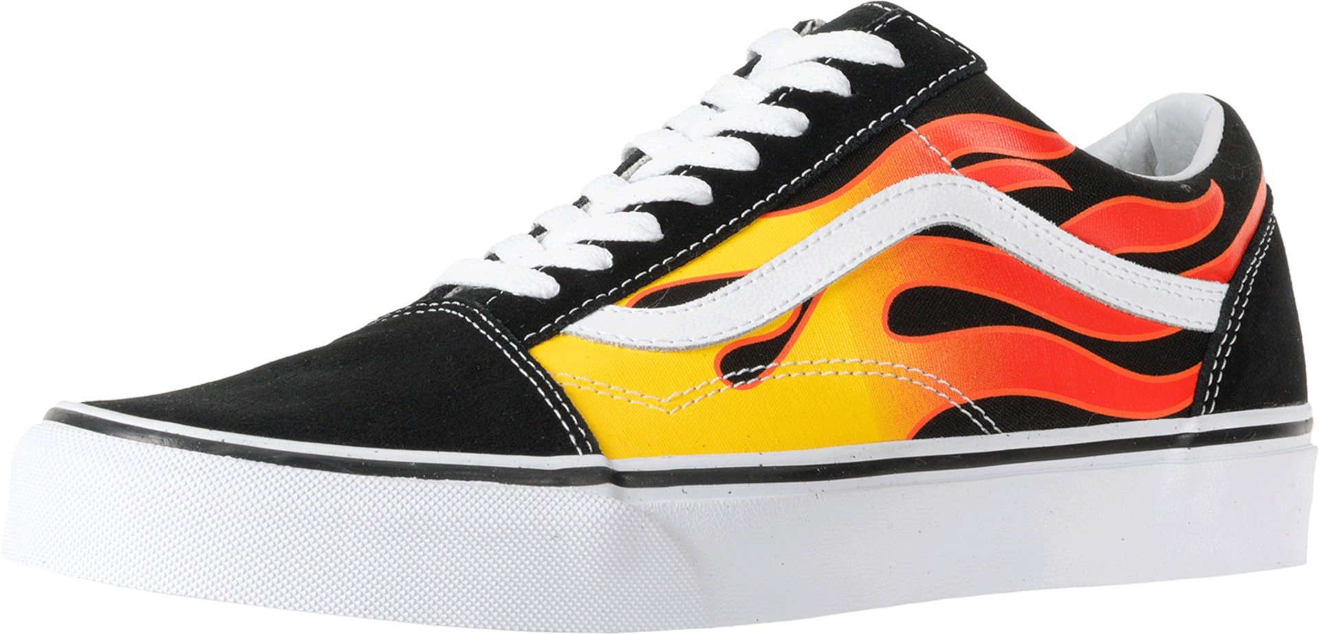 Vans Mens Old Skool Flame Black Size 4.5 by Vans