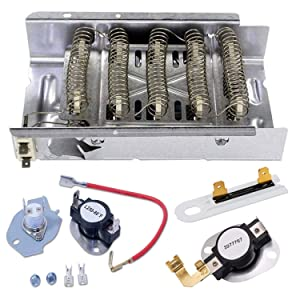 Siwdoy 279838 279816 3977767 3392519 Dryer Heating Element Kit Compatible Whirlpool Kenmore Dryer