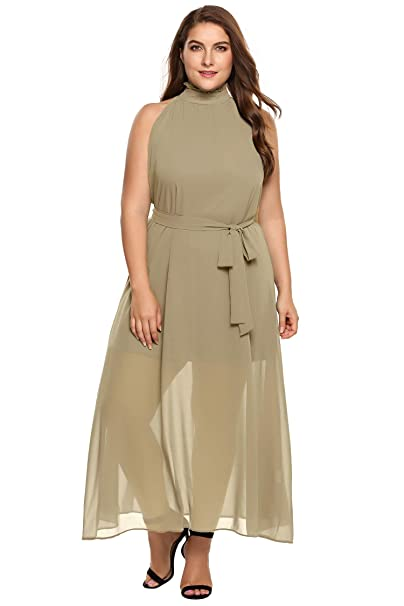 Amazon.com: Zeagoo vestido de largo medio elegante vestido ...