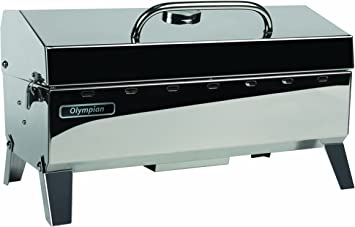Amazon Com Camco Olympian 4500 Stainless Steel Portable Gas Grill Connects To 1 Lb Disposable Propane Bottle Integrated Folding Tabletop Legs 57251 Automotive