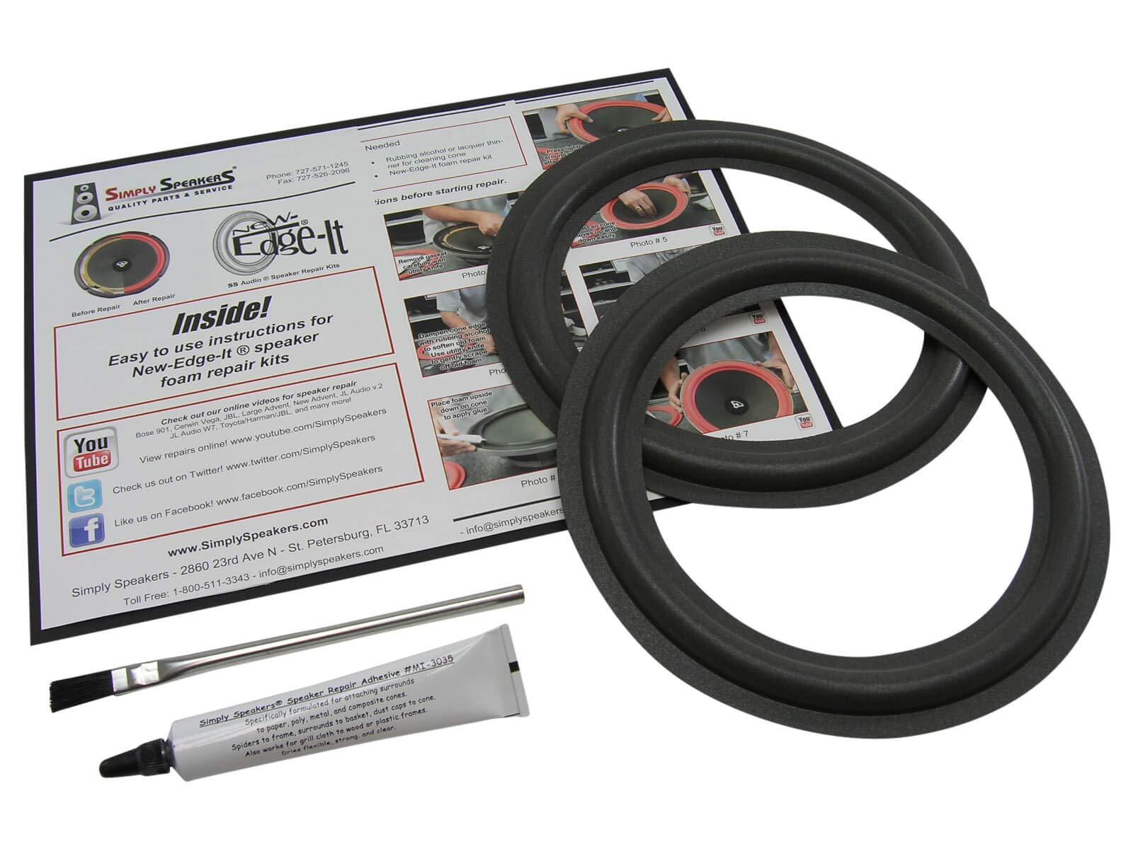 Boston Acoustics 8 Inch Foam Speaker Repair Kit FSK-8 (Pair)