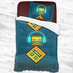 Games-Dash Comfortable Soft Microfiber 2-Piece Bedding Set Quilt Cover Pillowcases Adults Kids