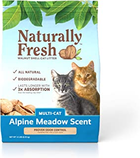 product image for Naturally Fresh Cat Litter - Walnut-Based Quick-Clumping Kitty Litter, Alpine Meadow Scent, Multi-Cat, 14 lb