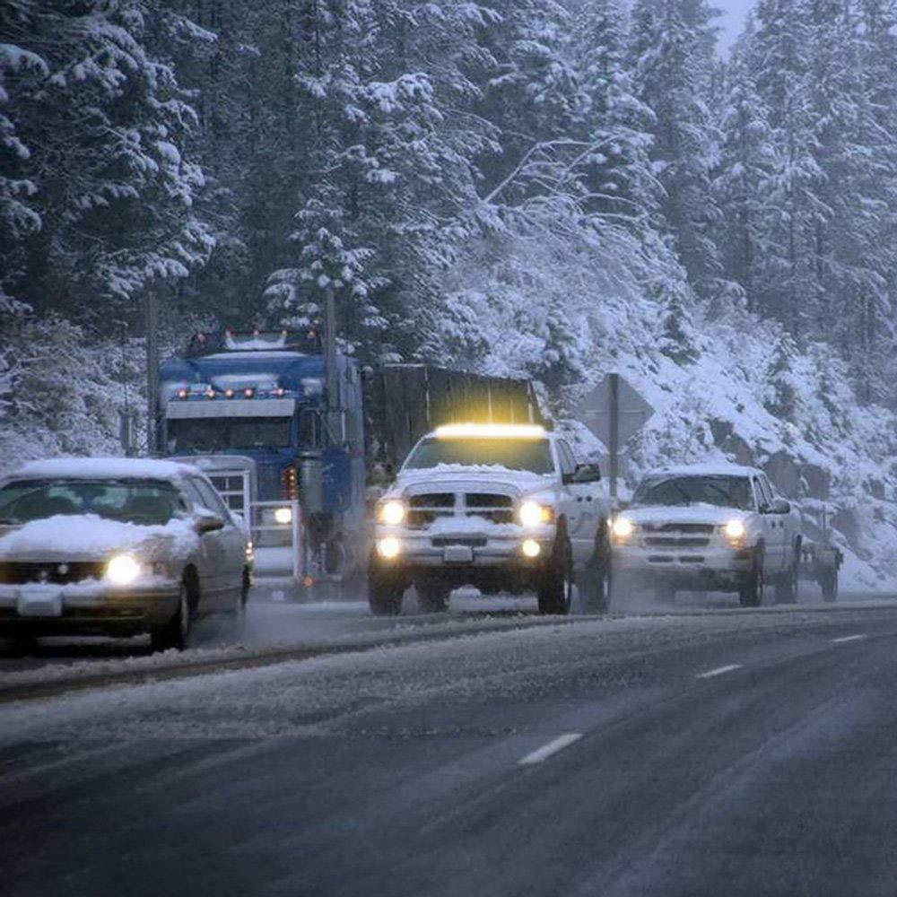 24V tianruidauto 1300 CM 96 LED 51 Amber//White Light Bar Emergency Beacon Warn Tow Truck Response Strobe Wide voltage12V