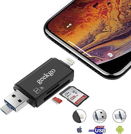 Amazon.com: Geekgo - Lector de tarjetas SD, Micro SD TF ...