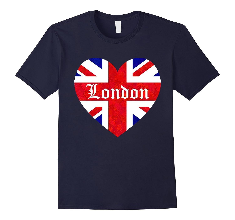 Glorious London Heart I Love Londons Flag Colors T-shirt-CD
