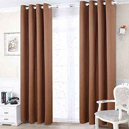 Freelife Room Darkening Grommet Blackout Window Curtain For Bedroom Or Living Room 2 Panels(52