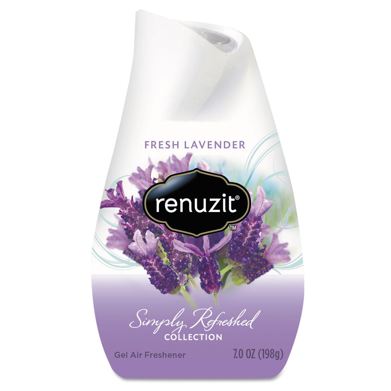 Renuzit 35001CT Adjustables Air Freshener, Fresh Lavender, Solid, 7 Oz, 12/carton