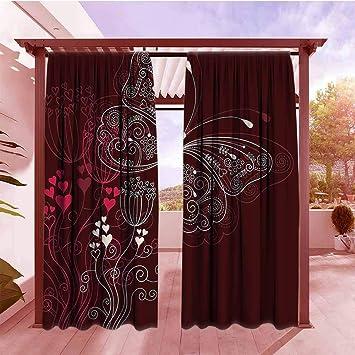 Amazon.com: DGGO Outdoor Blackout Curtain Romantic Abstract ...