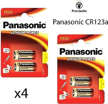 X4 Panasonic Cr123 A 3 V Lithium Photo Batterie Elektronik