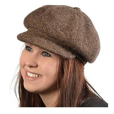 Geile-Fun-T-Shirts Women s Flat Cap Brown Brown 57 (EU)  Amazon.co ... e5e252d1460