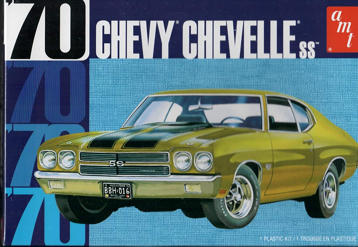 /'70 Chevy Chevelle SS 1//25 Scale Plastic Model Car Kit AMT1143