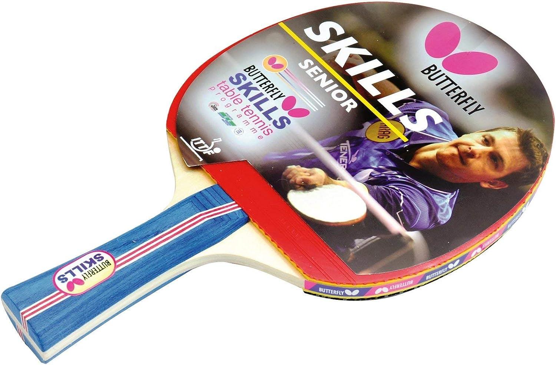 Butterfly Mariposa Habilidades SNR Raqueta de Tenis de Mesa