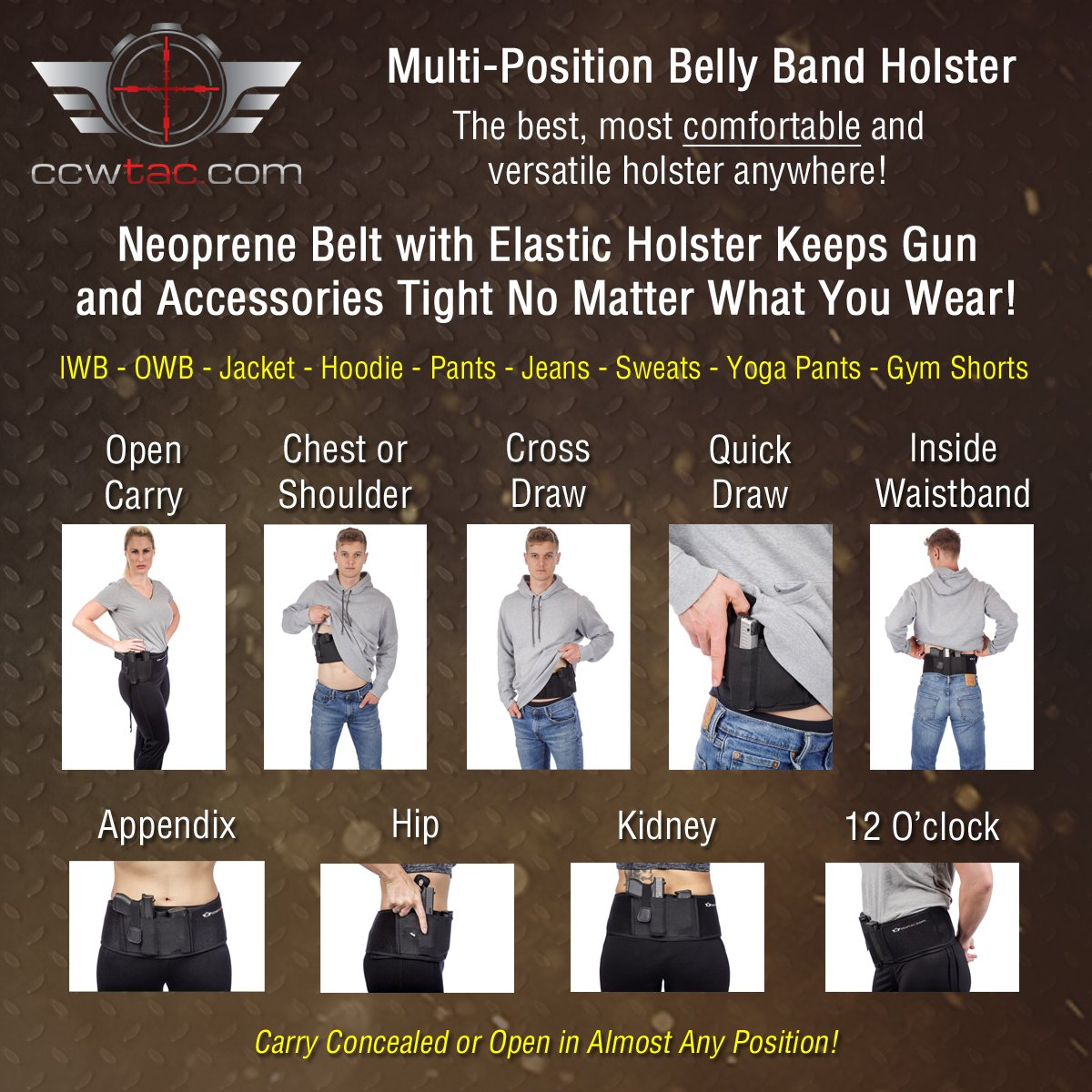 IWB Belly Band Holster by CCW Tactical