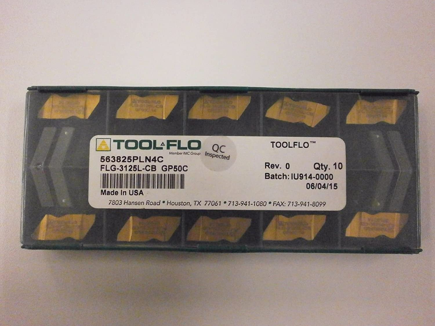 10pc ToolFlo FLG 3125L-CB GP50 Top Notch Carbide Grooving Inserts NG 3125LCB