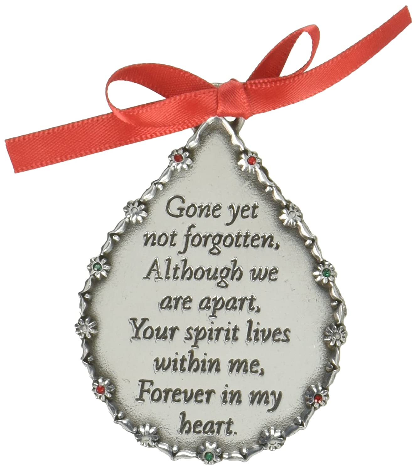CA Gift CO520 Gone Yet Not Forgotten Teardrop Memorial Ornament, 2-3/4 2-3/4 Cathedral Art