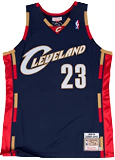 971b1e991 Mitchell   Ness Lebron James Cleveland Cavaliers Authentic 2008 Navy NBA  Jersey