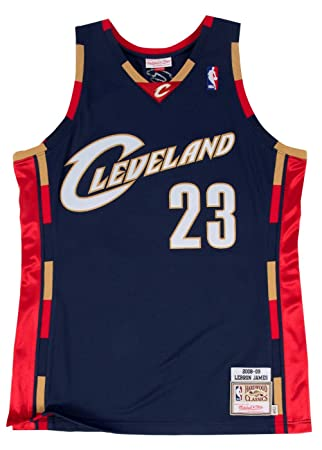 Lebron James Cleveland Cavaliers Mitchell & Ness NBA auténtico 2008 azul marino Jersey