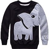 Tkiames Ragazzo Elefante Maniche lunghe Felpa Inverno Sweater