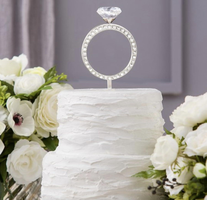 David Tutera Cake Topper 3d Engagement Ring Amazon Grocery Gourmet Food: Cake Topper Wedding Silver Diamond Ring At Websimilar.org