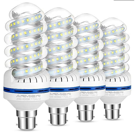 Lampadine LED, 20 W Equivalente A 150 W, Attacco Stanlio B22, 6000 K