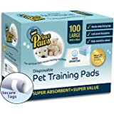 PrincePaws Pet Dog Training Pads - Puppy Pads 100 Count with Adhesive Tape, Large 24x24, Toilet Potty Pet Pee Pads for Dogs, Cat Litter Pads, Absorbent Waterproof Urine Disposable Dog Pads