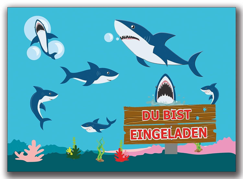 Invitaciones Cumpleaños infantiles Tiburón Tiburones ...