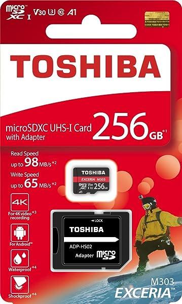 東芝 microSDXC 256GB 98MB/s Write65MB/s THN-M303R2560 4K A1 V30 U3 Toshiba 海外向パッケージ品