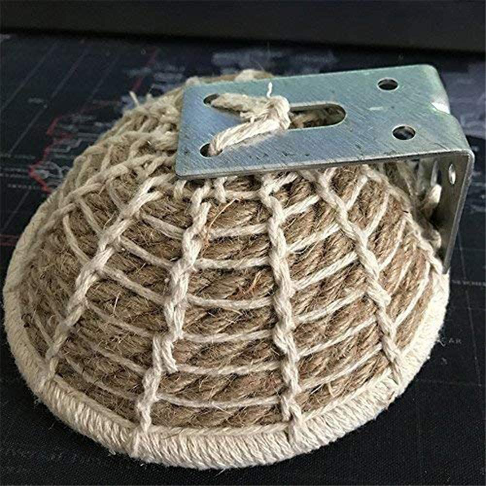 Keersi Handmade Hemp Rope Weave Bird Breeding Hut Nest Bed Toy for Parakeet Cockatiel Parakeet Conure Canary Budgie Finch Lovebird and Small Medium Parrot Cage Perch Hatching Nesting Box