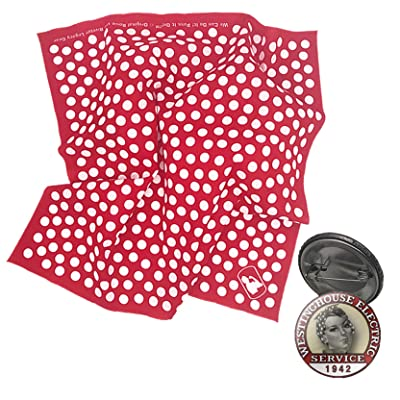 Rosie The Riveter Just for Fun 2-Item Dress Up Play Costume Set Red and White: Clothing