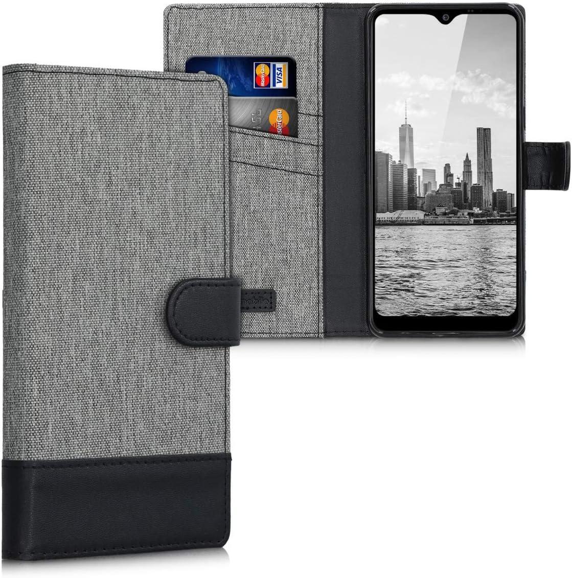 funda flip cover estilo billetera para lg k50s gris