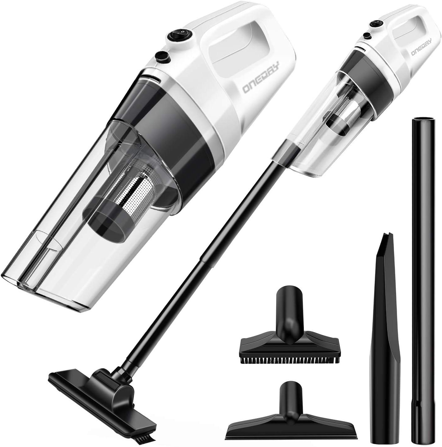 oneday® Aspirador de mano con batería, 6 en 1 Pro-ciclón aspirador ...