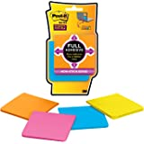 Post-it Super Sticky Full Adhesive Notes, 3 in x 3 in, Rio de Janeiro Collection, 4 Pads/Pack (F330-4SSAU)