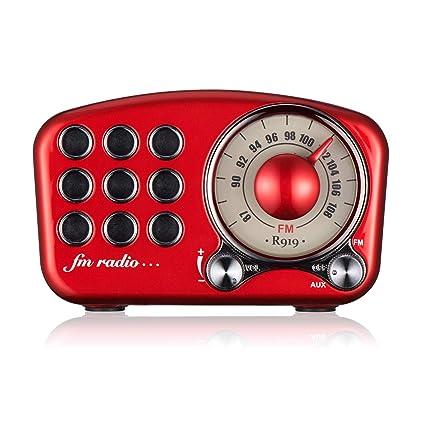 Amazon.com: Radio Vintage Retro Bluetooth Altavoz - Mifine ...