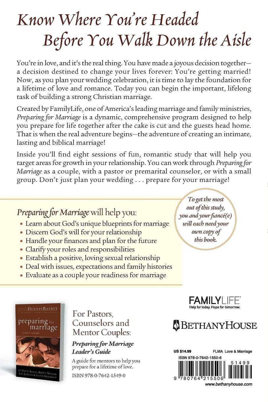 Preparing For Marriage Dennis Rainey 9780764215506 Amazon Books