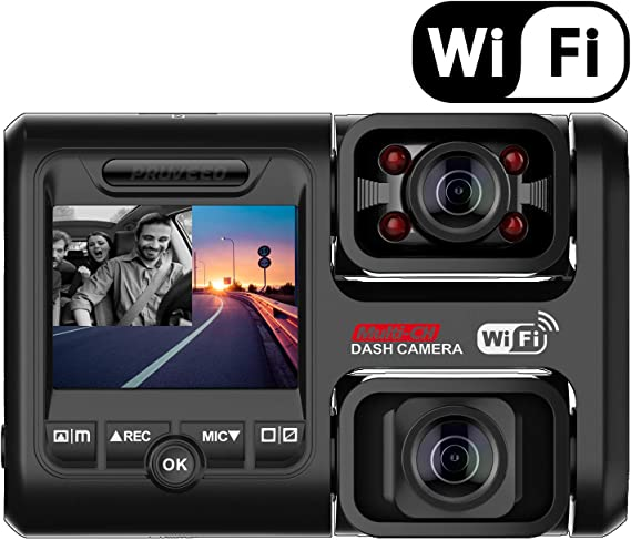 Pruveeo D30H Dash Cam with Infrared Night Vision and WiFi