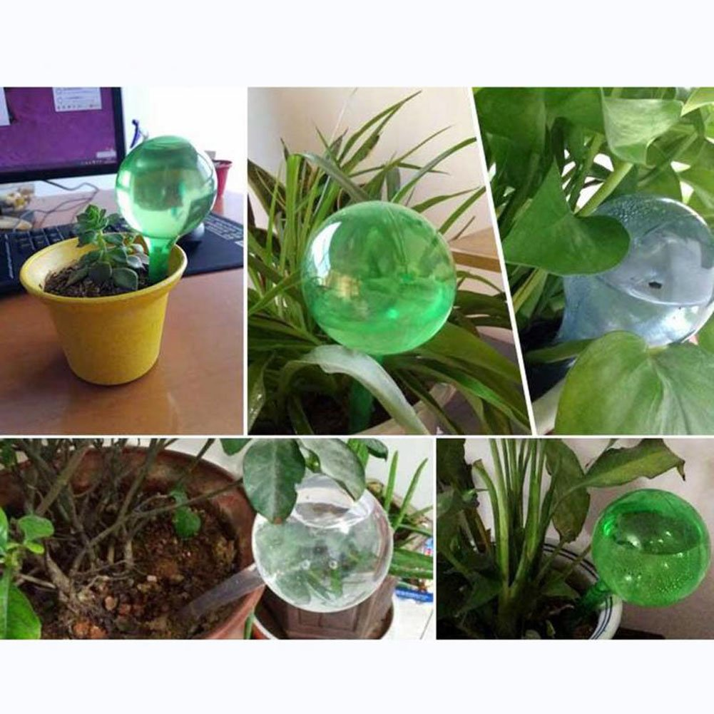 S, Green OWIKAR 10 Pack Watering Globes Automatic Watering Ball Imitation Glass Self-Watering Bulbs Flower Plant Watering System Flowers Irrigation Tool for Outdoor Indoor Garden