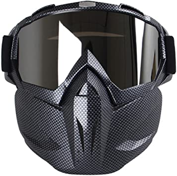 Tbest Motorrad Maske Brille Motocross Reiten Radfahren Motorrad Brillen Outdoor-Sicherheit Augenschutz Brille Anti-Wind Anti-Sand-Schutzbrille Maske zum Radfahren Open Face Helm Motocross Ski