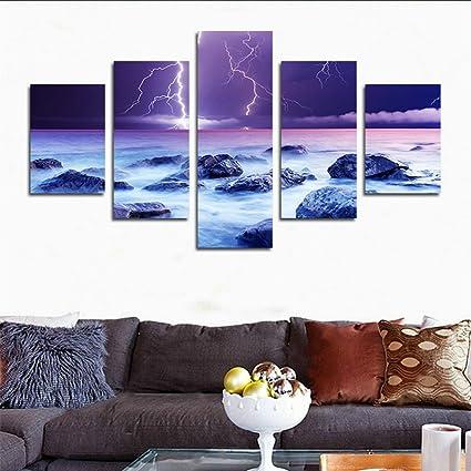 amazon com h cozy 5 piece hd custom canvas prints wall art decor