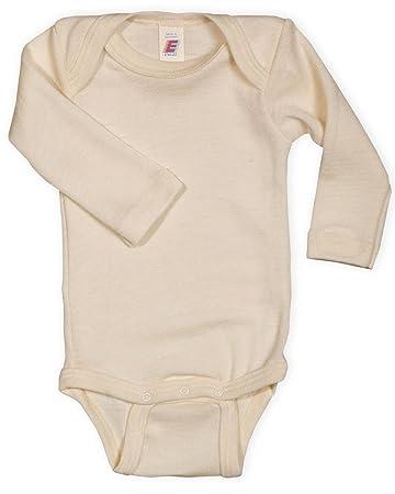 b3a92f9b0d649 Baby Body langarm, 100% Wolle, Engel Natur, Gr. 50/56